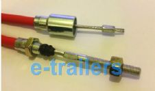 1730mm STAINLESS STEEL TRAILER BRAKE CABLE  - FITS KNOTT IFOR WILLIAMS